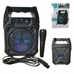KTS-1283-BT MİKROFONLU LEDLİ  BULUTUT SPEAKER USB-TF-FM