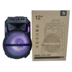 KTS-1293-BT MİKROFONLU LEDLİ  BLUETOOTH SPEAKER USB-TF-FM