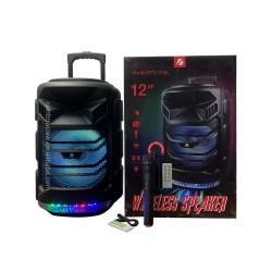 KTS-1536-BT WİRELESS MİKROFONLU LEDLİ  BLUETOOTH SPEAKER USB-TF-FM