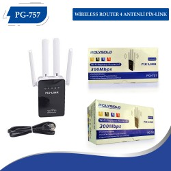 PG-757 WİRELESS ROUTER  4 ANTENLİ PİX-LİNK
