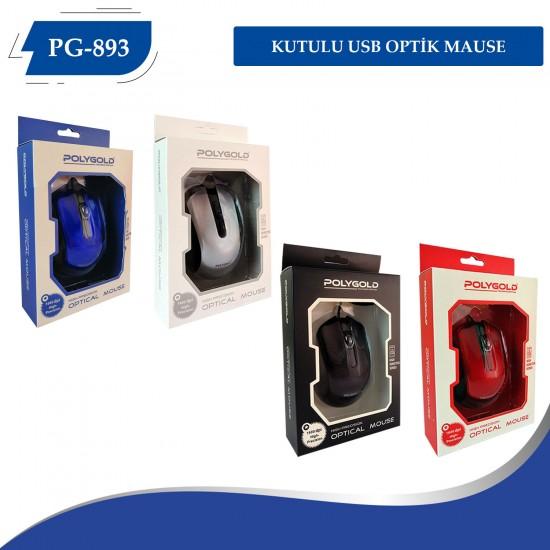 PG-893 KUTULU USB OPTİK MAUSE