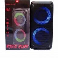KTS-1266 MİKROFONLU LEDLİ  BULUTUT SPEAKER USB-TF-FM 4 INÇX2