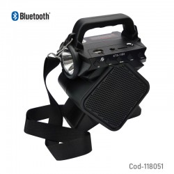 KTS-1183 MİKROFON GİRİŞLİ LEDLİ  BULUTUT SPEAKER USB-TF-FM
