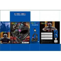 PG-6973 Karler Bass Rgb Kablolu Led Işıklı Mikrofonlu Profesyonel Oyuncu Kulaklığı R9000