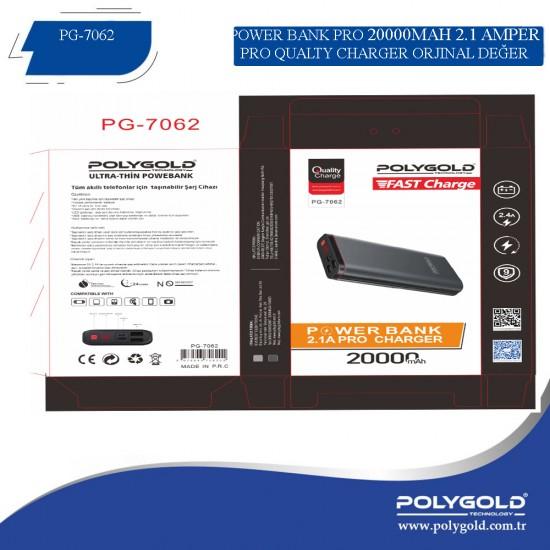 PG-7062 PRO POWER BANK 20000MAH (2,1 QUALTY ŞARZ)