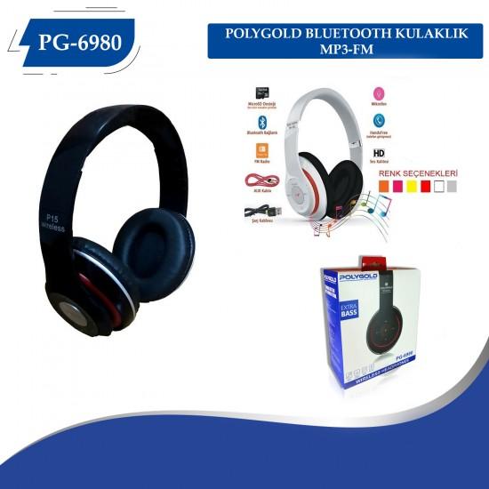 PG-6980 POLYGOLD BLUETOOTH KULAKLIK MP3-FM