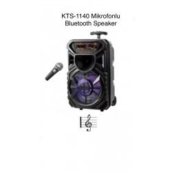 KTS-1140 MİKROFONLU LEDLİ  BULUTUT SPEAKER USB-TF-FM
