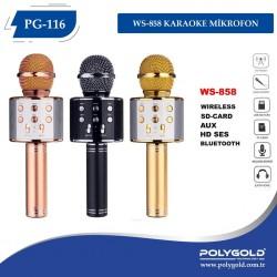 PG-116 WS858 KARAOKE MİKROFON VE BULUTUT SPEAKER