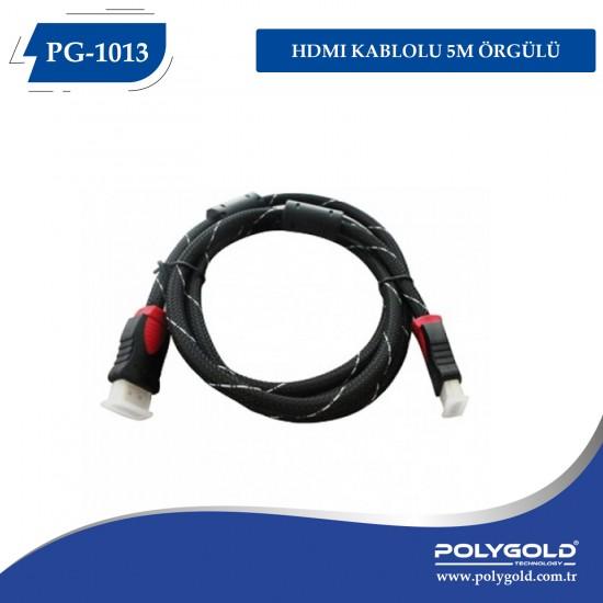 PG-1013 HDMI Kablolu 5M Örgülü