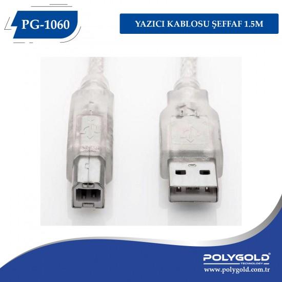 PG-1060 YAZICI KABLOSU ŞEFFAF 1.5M