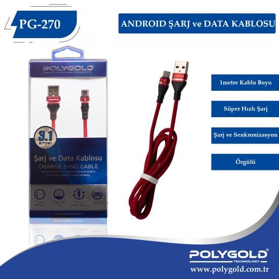 PG-270 ANDROID 3.1AMPER  USB USB DATA KABLO