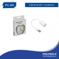 PG-303 USB Ses Kart 7.1 Kablolu