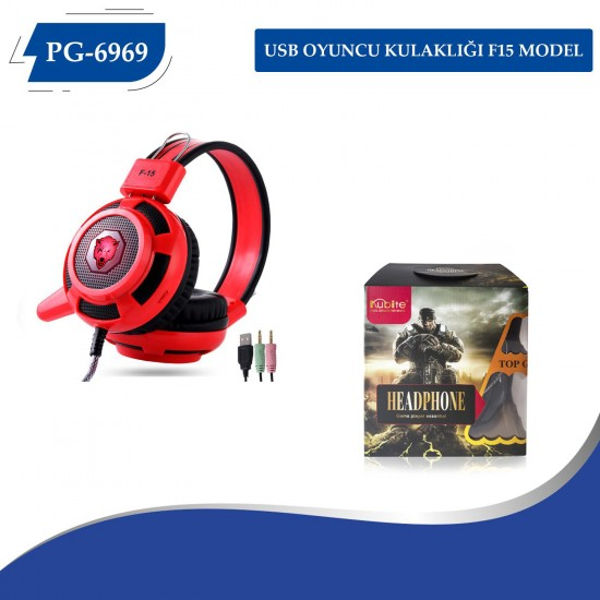 PG-6969 USB Oyuncu Kulaklığı (F15) Model