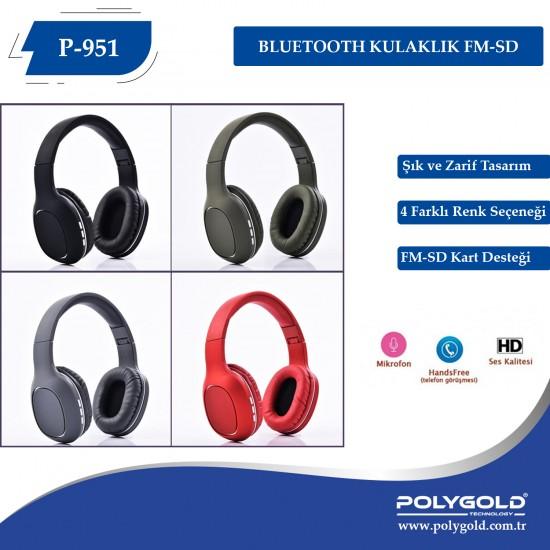 PG-6990 P951  Bluetooth Kulaklık FM-SD