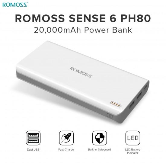 PG-7045 ROMOSS SENSE-6  20,000 mAH POWERBANK
