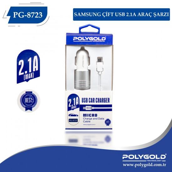 PG-8723 Samsung  Çift Usb  2.1A Araç  Şarzjı