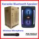 KTS-1310 KABLOSUZ 8'İNÇ MİKROFONLU LEDLİ BULUTUT SPEAKER USB-TF-FM