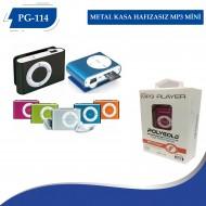 PG-114  METAL KASA HAFIZASIZ MP3 MİNİ