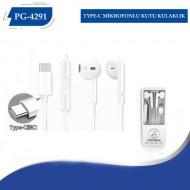 PG-4291 TYPE-C Mikrofonlu Kutulu Kulaklık