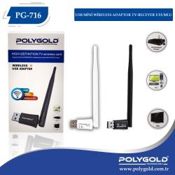 PG-716 USB MİNİ WİRELESS ADAPTOR TV-RECEVER UYUMLU