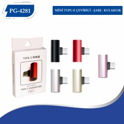 PG-4281 Mini Typce Çevirici Hem Şarj Hemde Kulaklık