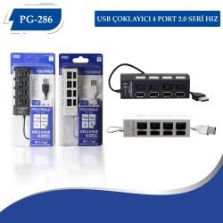 PG-286 USB Çoklayıcı 4 Port 2.0 Seri Hız