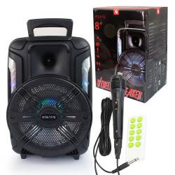 KTS-1175 MİKROFONLU LEDLİ  BULUTUT SPEAKER USB-TF-FM