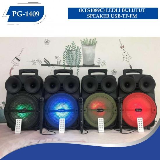 KTS-1089A LEDLİ  BULUTUT SPEAKER USB-TF-FM