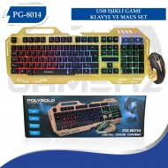 PG-8014 USB IŞIKLI GAME KLAVYE VE MAUS SET