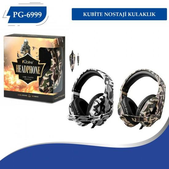 PG-6999 Kubite Oyuncu Kulaklığı Kamuflaj Modeli