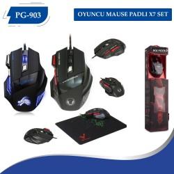 PG-903 OYUNCU MAUSE PADLI X7 SET