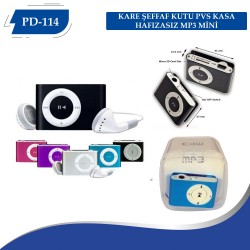PD-114 KARE KUTU METAL KASA HAFIZASIZ MP3 MİNİ