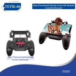 TETİK-08  Hem Powerbank Hemde Fanlı (SR Modeli) GamePad Konsol