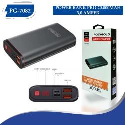 PG-7082 PRO POWER BANK 20000MAH 3.0 QUİCK (HIZLI ŞARZ )