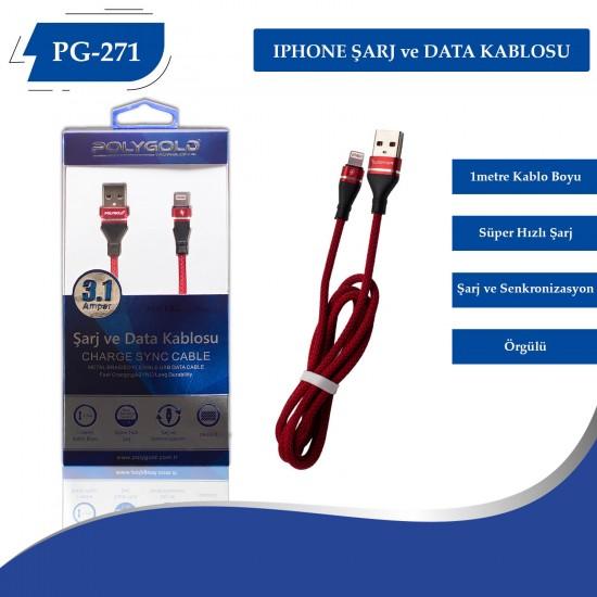 PG-271 IPHONE 3.1AMPER  USB USB DATA KABLO
