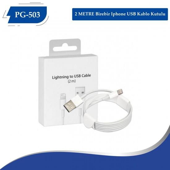 PG-503 (2 METRE) BİRE BİR İPHONE USB DATA KABLO