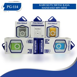 PG-114  METAL KASA HAFIZASIZ MP3 MİNİ