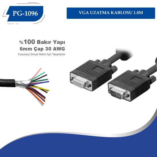 PG-1096 VGA UZATMA KABLOSU 1.8M