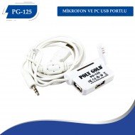 PG-125 MİKROFON VE PC USB PORTLU