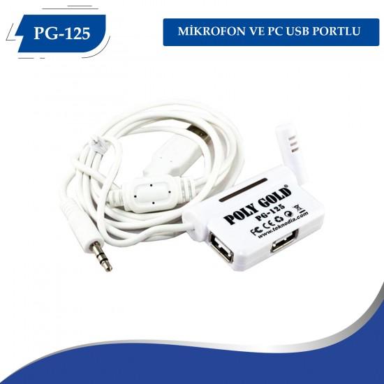 PG-125 MİKROFON VE PC USB PORTLU