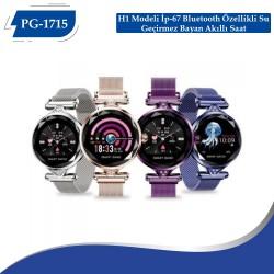 PG-1715 H1 Modeli İp-67 Bluetooth Özellikli Su Geçirmez Bayan Akıllı Saat