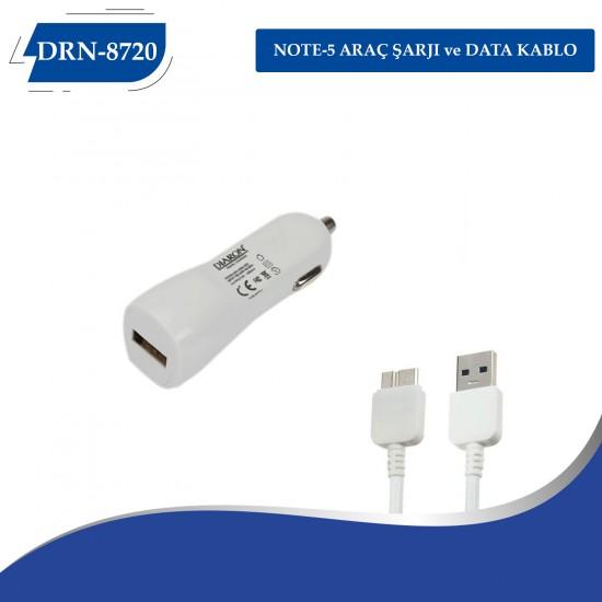 DRN-8720 NOTE-5  ARAÇ ŞARJI ve DATA KABLO