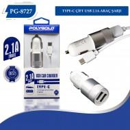 PG-8727 TYPE-C 2.1Amper Çıft usb başlıklı Kafa