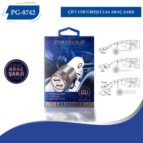 PG-8742 2 USB 2.1A  ARAÇ ŞARZI