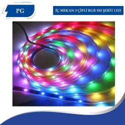 İÇ MEKAN 3 ÇİPLİ RGB 5M ŞERİT LED