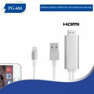 PG-684 İPHONE HDMI GÖRÜNTÜ AKTARMAN KABLOSU