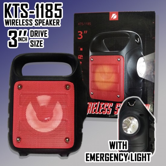 KTS-1185 MİKROFON GİRİŞLİ LEDLİ  BULUTUT SPEAKER USB-TF-FM