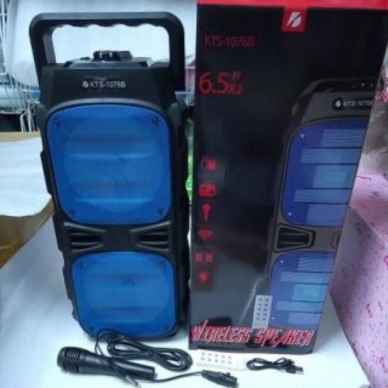 KTS-1076B MİKROFONLU LEDLİ  BULUTUT SPEAKER USB-TF-FM