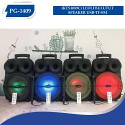 PG-1409 (KTS1089C) LEDLİ  BULUTUT SPEAKER USB-TF-FM