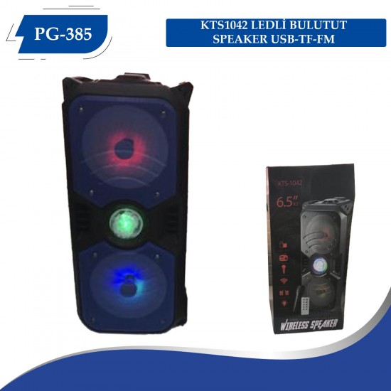 PG-385  KTS1042 LEDLİ  BULUTUT SPEAKER USB-TF-FM